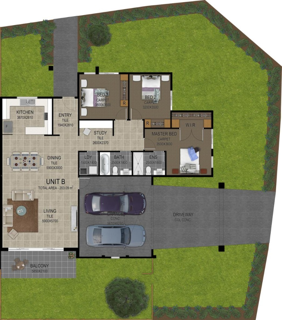 Floor Plan Artwork_Unit_B
